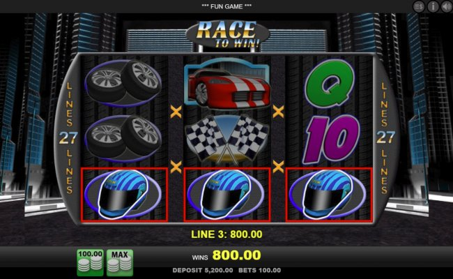 A winning three of a kind by Free Slots 247