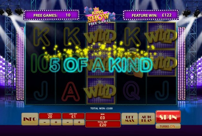 A 5 of a kind - Free Slots 247