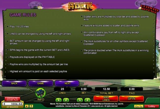 The Incredible Hulk by Free Slots 247