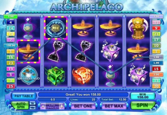 Free Slots 247 - here is an example of a $156 big win triggered by multiple winning paylines