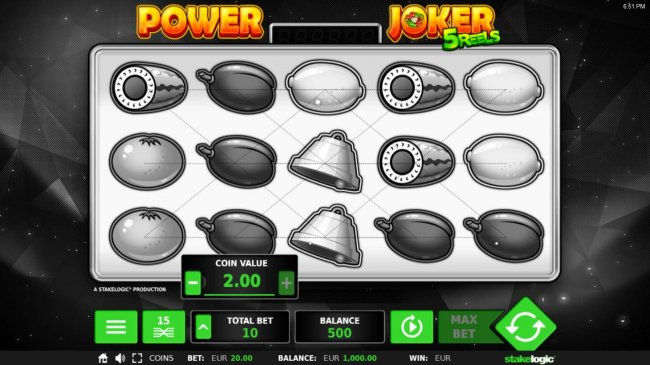 Free Slots 247 - Click on the Total Bet button to change the stake value