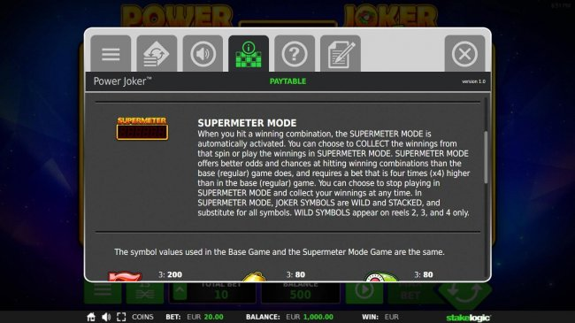 Free Slots 247 - Supermeter Mode Rules