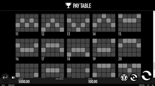 Payline Diagrams 11-20 - Free Slots 247