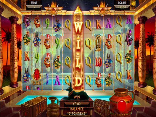 Free Spins Game Board - Both the left and right reels are joined by an 11th reel in the middle that consists on a stacked wild during the entire free spins. The free spins pay both ways for a total of 100 paylines. by Free Slots 247