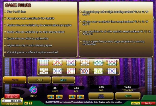 Free Slots 247 image of Blankety Blank