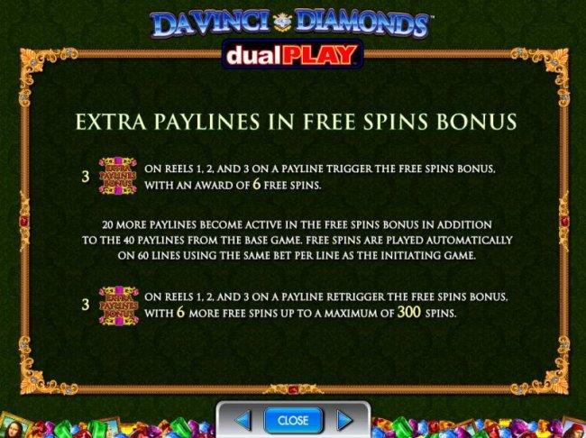 Free Slots 247 image of Da Vinci Diamonds Dual Play