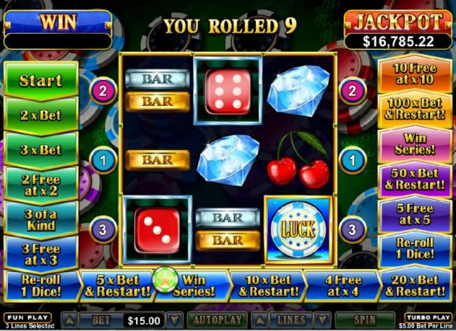 Free Slots 247 - you rolled a 9