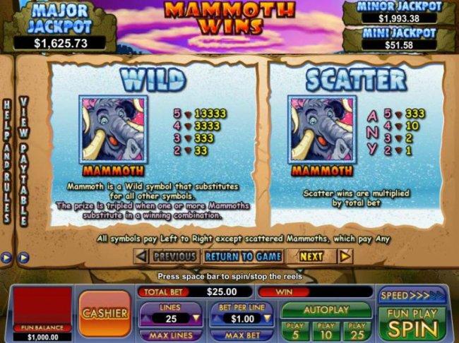 Free Slots 247 image of Mammoth Wins