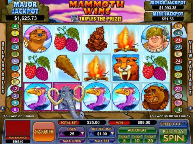 Mammoth Wins by Free Slots 247
