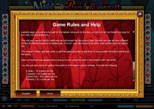 Game Rules and Help - Part 2 - Casino Bonus Lister