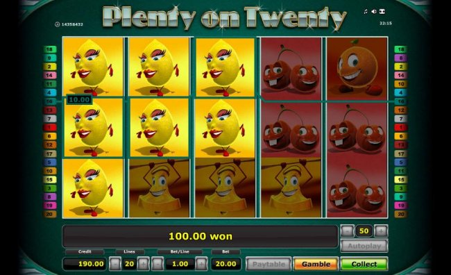 Free Slots 247 image of Plenty on Twenty