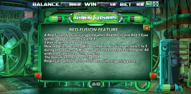 Red Fusion Feature Rules by Free Slots 247