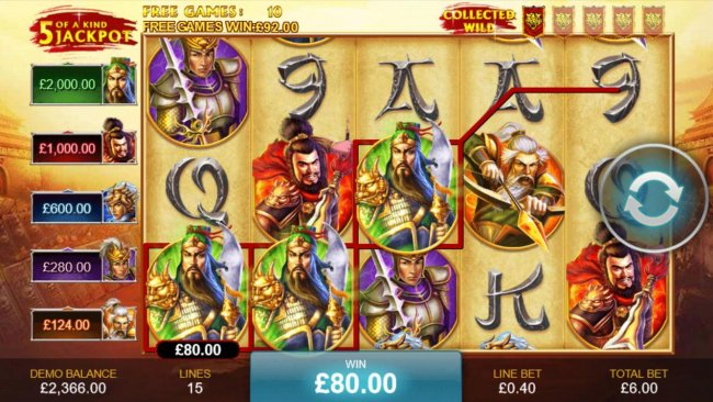 Free Slots 247 - A winning Three of a Kind.
