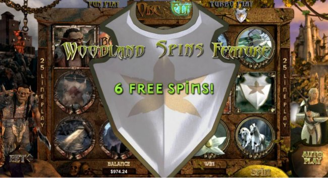 Free Slots 247 - woodland spins feature triggered 6 free spins awarded