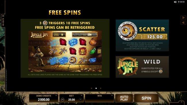 Free Slots 247 - 3 Aztec calendar scatter symbols triggers 10 free spins! Free spins can be re-triggered.