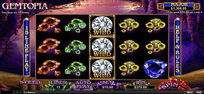 Re-spin feature triggers multiple winning paylines by Free Slots 247