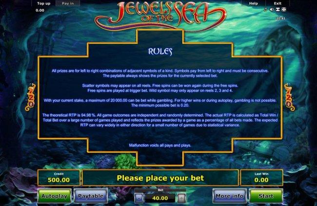 Jewels of the Sea screenshot