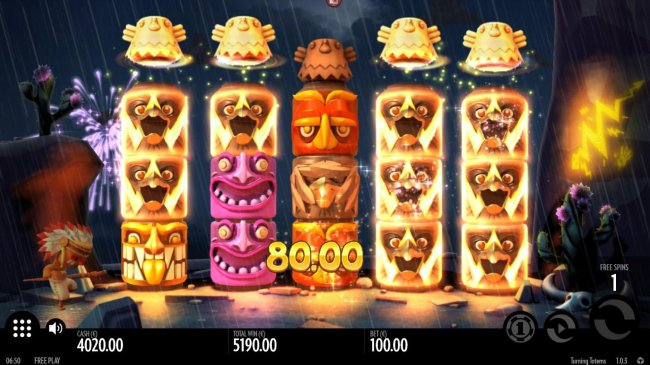 Multiple winning paylines triggers a big win during the free spins feature! - Free Slots 247