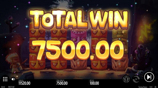 The Free Spins feature pays out a total of 7,500.00 - Free Slots 247