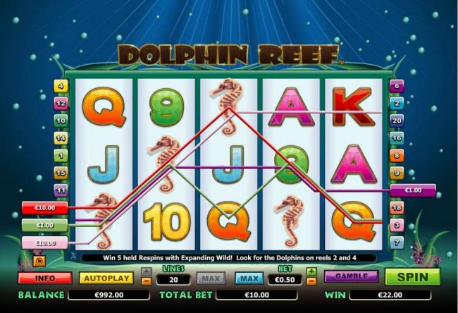 Free Slots 247 - example of multiple winning paylines