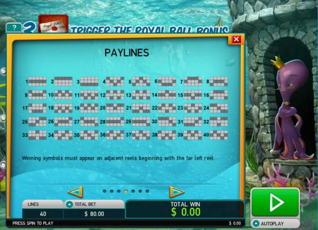 Payline Diagrams 1-40 by Free Slots 247