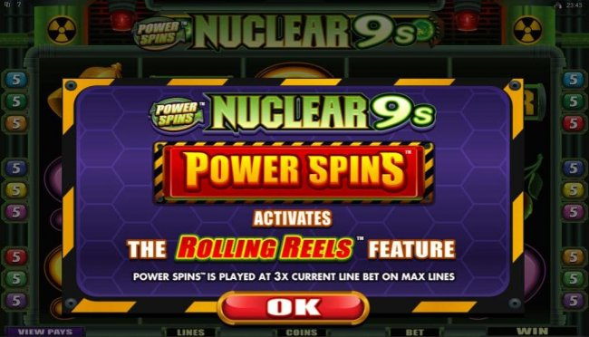 Free Slots 247 - Power Spins Activates the Rolling Reels Feature