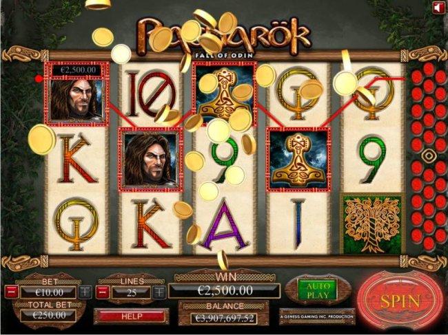 Free Slots 247 - four of a kind triggers a $12,500 jackpot