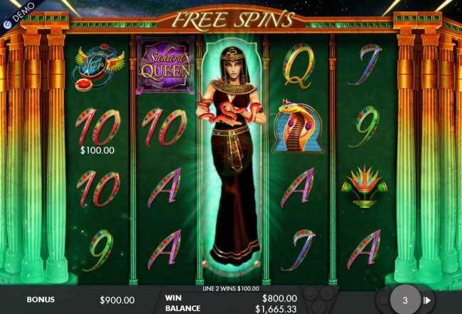 Stacked wild symbol triggers an 800.00 payout during the free spins feature. by Free Slots 247