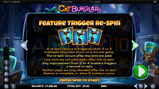 Feature Trigger Re-Spin by Free Slots 247