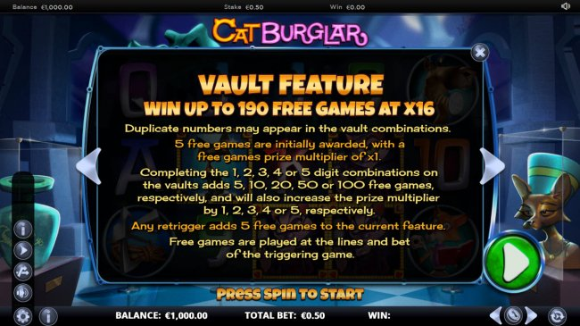 Cat Burglar by Free Slots 247
