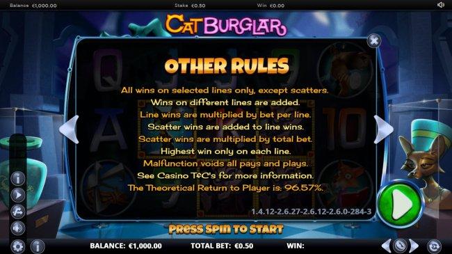 Cat Burglar screenshot