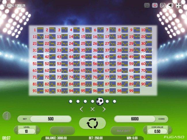 Payline Diagrams 1-99 - Free Slots 247