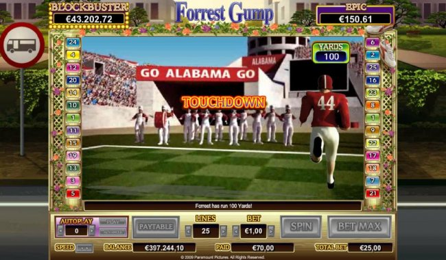 Earn more credits if you make it all the way to the end zone for a touchdown by Free Slots 247