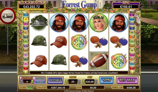 Main game board featuring five reels and 25 paylines with a $50,000 max payout - Free Slots 247