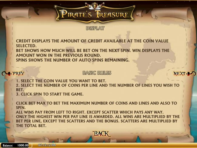 Pirate's Treasure by Free Slots 247
