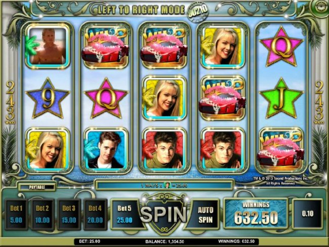 five of a kind triggers a big win - Free Slots 247