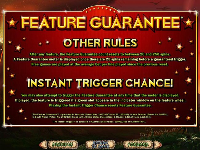 Feature Guarantee by Free Slots 247