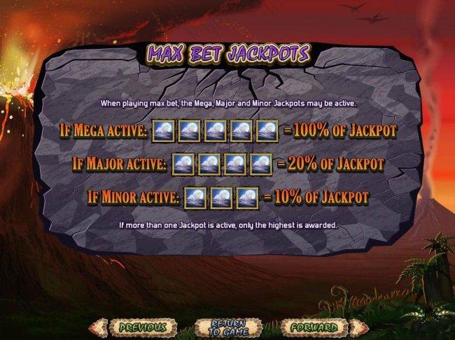 Max Bet Jackpots - When playing max bet, the Mega, Major and Minor Jackpots may be active. by Free Slots 247