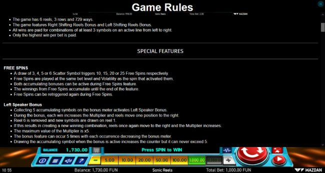 Free Slots 247 - General Game Rules