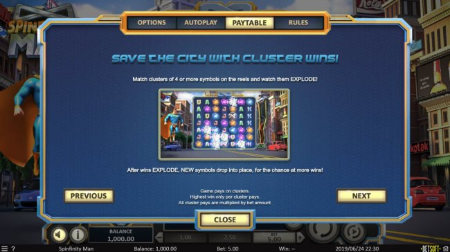 Winning Clusters by Free Slots 247