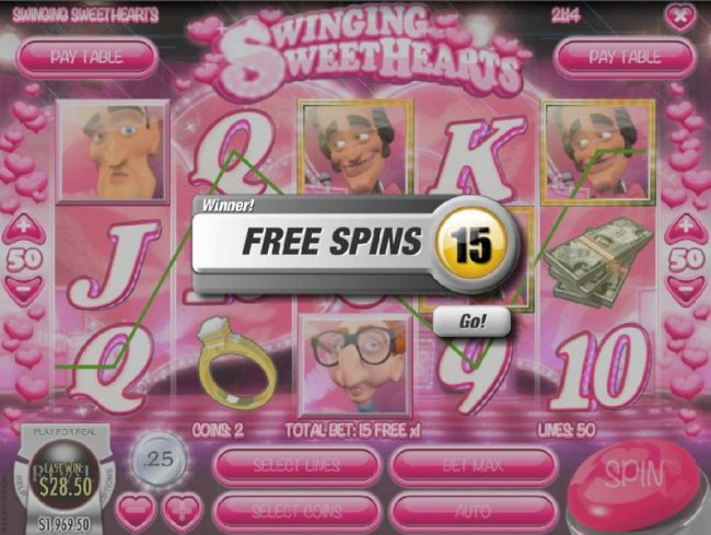Free Slots 247 - Three game show host scatter symbols triggers 15 free spins