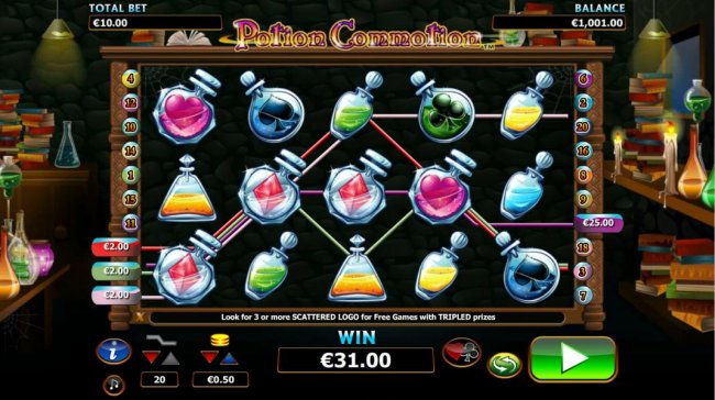 multiple winning paylines triggers a $31 jackpot by Free Slots 247