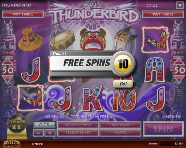 Free Slots 247 - 10 Free Spins awarded.
