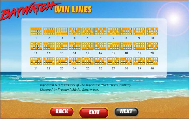 payline diagrams by Free Slots 247