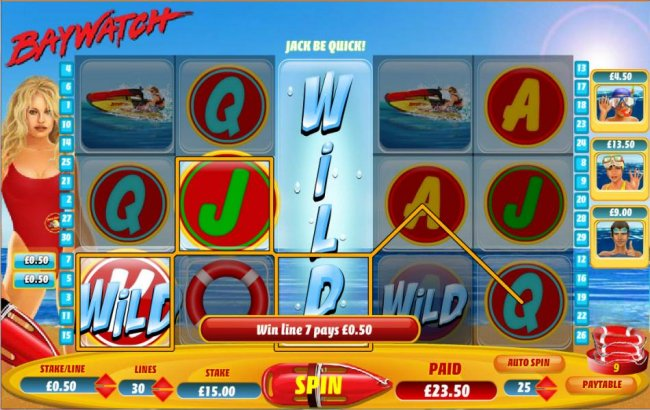 Free Slots 247 - expanded wild symbol triggers multiple winning paylines