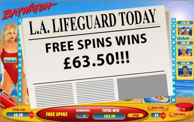 Free Slots 247 image of Baywatch