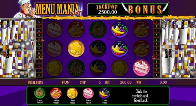 Free Slots 247 image of Menu Mania