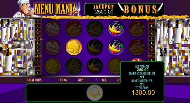 Free Slots 247 - Jackpot Bonus feature pays out a total of 1300