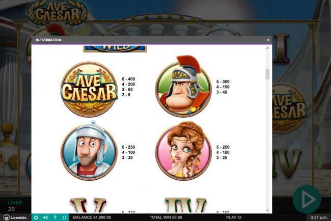 Ave Caesar by Free Slots 247