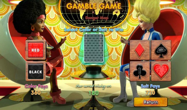 Gamble Feature - To gamble any win press Gamble then select Red or Black or Suit - Free Slots 247